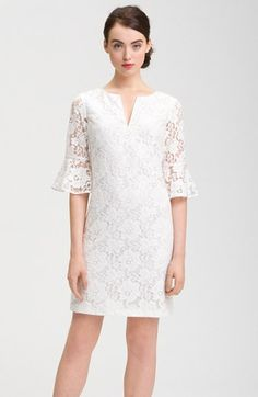 Adrianna Papell Ruffle Sleeve Lace Dress available at #Nordstrom