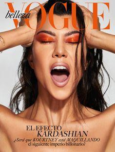 Kourtney Kardashian Rocks Orange Eyeshadow On Cover Of Vogue Mexico Magazine Kourtney Kardashian, Robert Kardashian, Kardashian Kollection, Kardashian Workout, Vogue Magazine Covers, Fashion Magazine Cover, Fashion Cover, Vogue Covers, Vintage Vogue