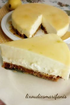 Greek Desserts, Fruit Pie, Sweetest Day, Cheesecakes, Sweets, Cooking, Recipes, Food, Sweet Days