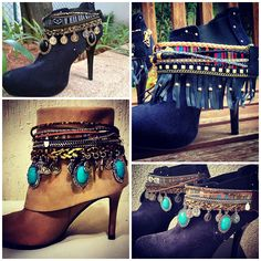 Blog de moda Capricórnio Gypsy Boots, Boho Boots, Botas Boho, Boot Jewelry, Boot Bling, Boot Cuffs, Hippie Outfits, Western Boots, Fashion Boots
