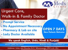 Time Is Not A Consideration For Us. Medx Clinic Is Always Available To Serve You, Whenever You Need Us. Feel Free To Contact: Call: 289-521-8844 Or 289-521-8845 #Doctor #Health #Care #Clinic #Recovery #GoodHealth #GoodWealth
