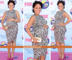 AWWWWW!!! Actress Tamera Mowry Shows Off Her BABY BUMP . . . And She Looks SO CUTE Pregnant!!!