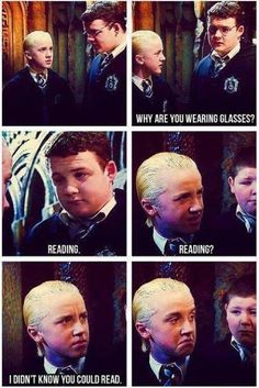 """""""Still amazed that this scene was improvised by @TomFelton because he forgot his lines. He is brilliant! #HarryPotter"""""""
