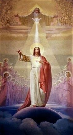 Holy Trinity, God the Father, the Son and the Holy Spirit , Pictures Of Jesus Christ, Religious Pictures, Catholic Art, Religious Art, Image Jesus, Jesus Photo, Jesus Painting, Christ The King, Jesus Art