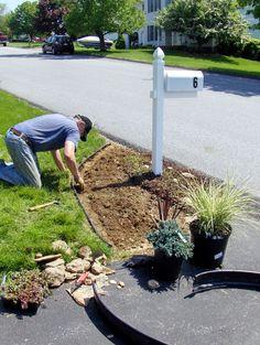 Image result for landscaping around mailbox photos #MailboxLandscape