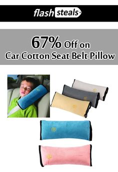Avail 67% discount on Car Cotton Seat Belt Pillow. Deal is already activated on the site just click and enjoy saving.  For More #Flash Steals #Coupon #Codes visit:   http://www.couponcutcode.com/coupons/save-67-car-cotton-seat-belt-pillow/