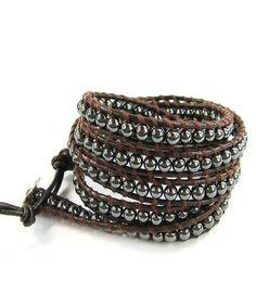 Genuine CHAN LUU Hematite Wrap Bracelet