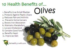 10 Health Benefits of Olives.