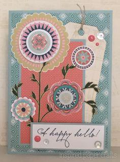 A Happy Hello! www.inspiredpapercrafts.com