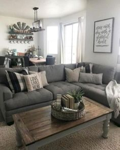 31 Awesome Modern Farmhouse Living Room Decor Ideas And Makeover. If you are looking for Modern Farmhouse Living Room Decor Ideas And Makeover, You come to the right place. Below are the Modern Farmh. Modern Farmhouse Living Room Decor, Cozy Living Rooms, Living Room Grey, Living Room Modern, Apartment Living, Living Room Designs, Farmhouse Decor, Small Living, Farmhouse Style