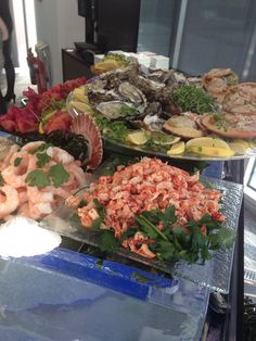 A Seafood Lovers Dream! A beautiful seafood and shellfish stall presented on a giant block of ice!! Went down an absolute storm at our clients reception. Sure to give the wow factor!!