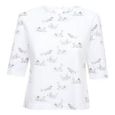 Bawełniana koszula z nadrukiem (I)