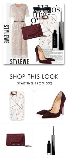 """""""StyleWe!"""" by dianagrigoryan ❤ liked on Polyvore featuring H&M, Casetify, Christian Louboutin and Givenchy"""