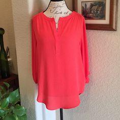 Karen Kane Top Karen Kane Top Size M Beautiful orange 100% Polyester BRAND NEW W/ TAGS Karen Kane Tops Blouses