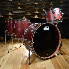 DW Collector's Series Mahogany 13/16/18/24 4pc Kit Cherry