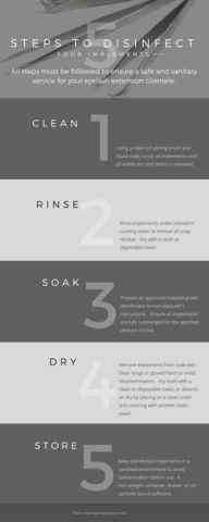 5 Steps to Sanitize & Disinfect Eyelash Extension Tools