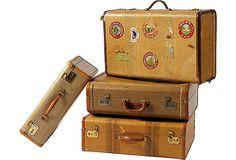 Vintage luggage. Classic.