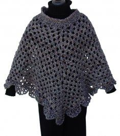 Free,  Marthas Coming Home  Crochet Poncho Pattern
