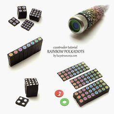 Duhové puntíky/Rainbow polka dots | LUCY Struncova