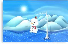 'Snowbaby on Sparkling Ice' Canvas Print by We ~ Ivy Art Prints For Home, Framed Prints, Canvas Prints, Presents For Friends, My Themes, Good Cause, Sparkling Ice, Art Boards, Ivy