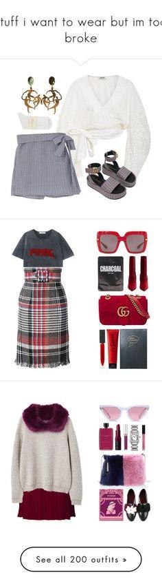 """stuff i want to wear but im too broke"" by destiny-orihuela ❤ liked on Polyvore featuring AMUR, Falke, MANGO, Oscar de la Renta, Dolce&Gabbana, Fendi, Gucci, Sloane Stationery, La Senza and Burberry"
