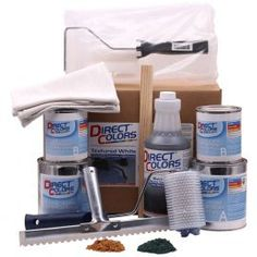 One-Step Concrete Countertop Overlay, Gray or White Countertop Refinishing Kit, Painting Countertops, Countertop Materials, Laminate Countertops, Concrete Countertops, Kitchen Countertops, Concrete Floors, Granite, Concrete Kitchen