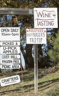 Signs point to Bolster's Hilltop Ranch on Apple Hill near Sacramento. The University of California is hosting a series of webinars to help farms develop their agritourism components.
