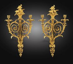 A PAIR OF GILT-BRONZE WALL LIGHTS ATTRIBUTED TO PIERRE-FRANÇOIS FEUCHÈRE, LATE LOUIS XVI, CIRCA 1787-1788