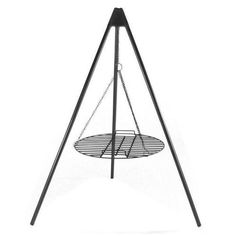 """Fire Pit Tripod Grill w/ 22"""" Cooking Grate Firepit Steel Campfire Cookout New"""