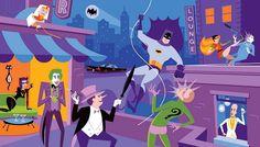 Action Figure Insider » HOLY ARTWORK, BATMAN! IT'S SHAG X BATMAN 1966 FOR SDCC!