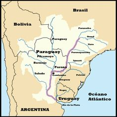 rio paraná mapa - Pesquisa Google