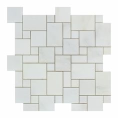 Buy Oriental White / Asian Statuary Marble Honed Mini Versailles Mosaic Tile Sample Product Attributes - Item: Premium (SELECT) Quality Oriental White / Asian Statuary Marble HONED MINI VERSAILLES MOS