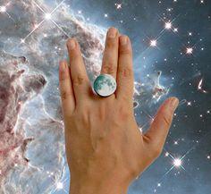 Moon ring by CaramelaHandmade on Etsy