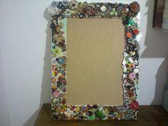 moldura reciclada com bijuoux