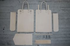 Making of a leather tote in veg-tan leather.