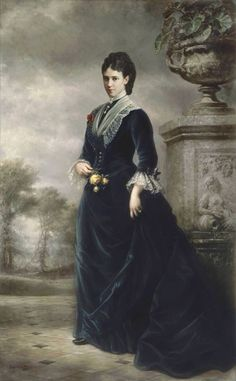"Portrait of Dagmar-Maria Feodorovna ""Minnie"" (Marie Sophie Frederikke Dagmar) (Maria Feodorovna) (1847-1928) Denmark wife of Tsar Alexander III (Alexander Alexandrovich Romanov) (1845-1894) Russia by unknown artist."
