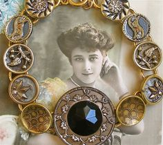 1800's antique Victorian button bracelet, jewelry jewellery (by AlliesAdornments)