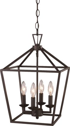 Laurel Foundry Modern Farmhouse Carmen 4 Light Foyer Pendant & Reviews | Wayfair