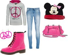 """Pretty Teens In Pink"" by mrslynchr5 on Polyvore"