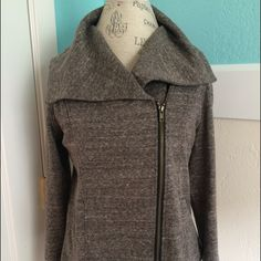 Asymmetrical Knit Jacket Worn only once.  Skylar asymmetrical knit jacket.  Great with jeans and boots .  In great condition Mystree Jackets & Coats