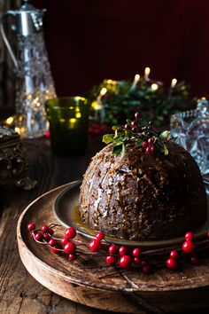 Traditional Christmas Pudding (activated nuts & a vegan twist) - The Balanced Kitchen Vegan Christmas Desserts, Christmas Food Photography, Christmas Time, Xmas, Old World Christmas, Cake Photography, Salty Cake, Christmas Pudding, Tea Cakes