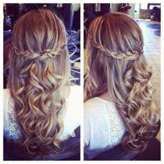 curly and braided hairstyle