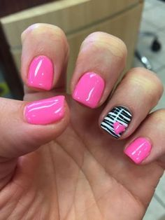Lovely valentine nails design ideas 9