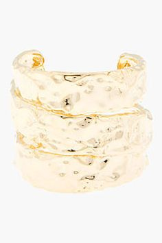 shopstyle.com: Marc by Marc Jacobs Rough Gold stacked cuff