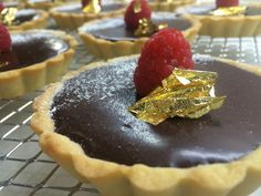 64% cacao chocolate tart
