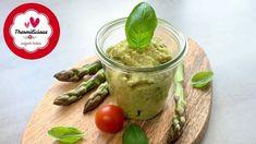 Spargelpesto im Thermomix® - Rezept von Thermiliscious Pesto, Pudding, Desserts, Food, Youtube, Vegetarische Rezepte, Treats, Food Portions, Tailgate Desserts