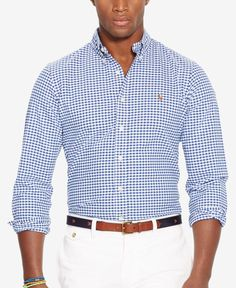 Polo Ralph Lauren Slim-Fit Stretch-Oxford Shirt - Navy S Ralph Lauren Brands, Polo Ralph Lauren, Ralph Lauren Slim Fit, Oxford Shirts, Polo Shirts, Business Formal Women, Business Casual Attire, Professional Attire, Preppy Mens Fashion