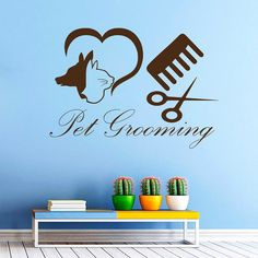 Dog Wall Decals Grooming Salon Pets Decal Pet Shop Decor Home Design Interior Vinyl Stickers Animals Art Mural Nursery Room Decor MR590