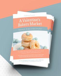 Volantes Publicitarios, Ejemplos Volantes - Baking Valentine's Day Event Flyer Template // Market A Valentine's Day Event And More By Editing This Baking Valentine's Day Event Flyer Template!