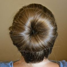 Use an old pair of socks to create a perfectly messy ballerina bun in no time.